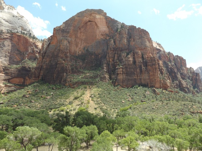 From the trail we were on at Zion National Park.