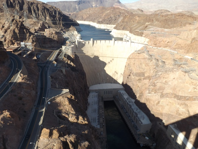 Hoover Dam from observation bridge