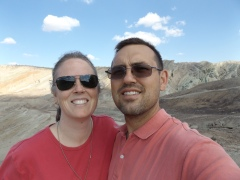 Rebecca and Charlie at Rainbow Basin.