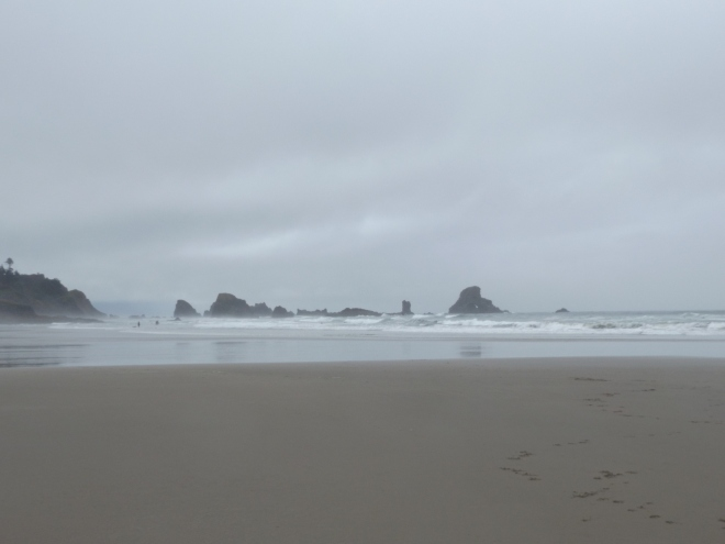 Oregon coast at Ecola State Park.
