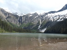 The three waterfalls at Avalanche Lake