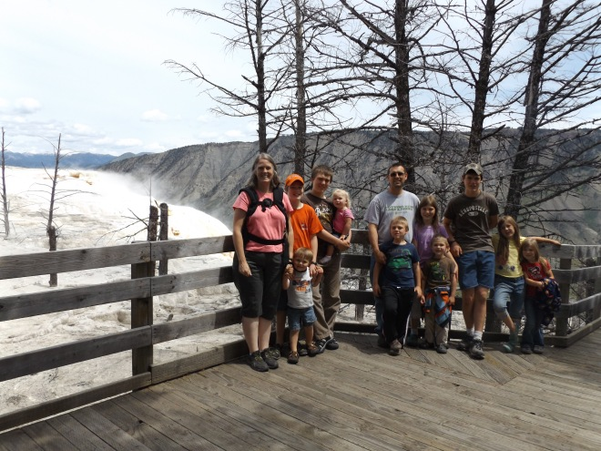 Our family at Mammoth Hot Springs