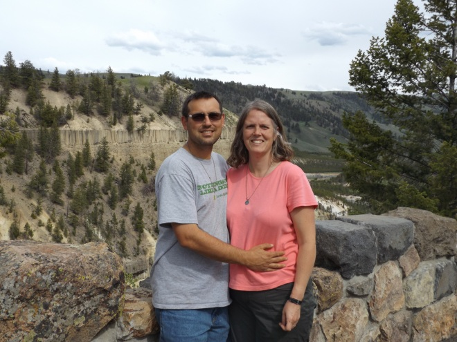 At the Grand Canyon of Yellowstone