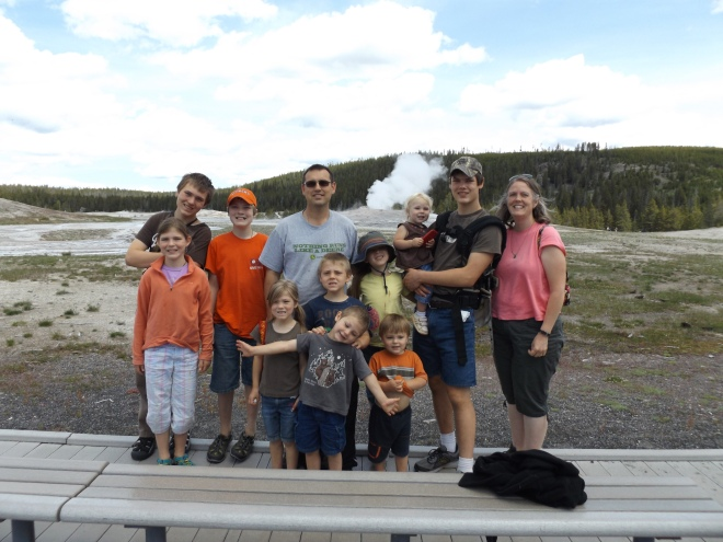 All of us at Old Faithful