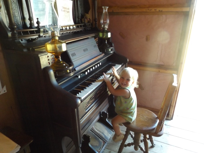 AnaClaire playing the organ