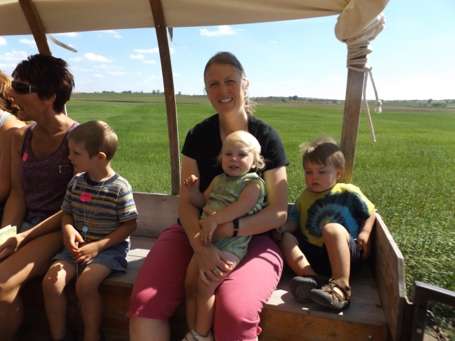 The covered wagon ride
