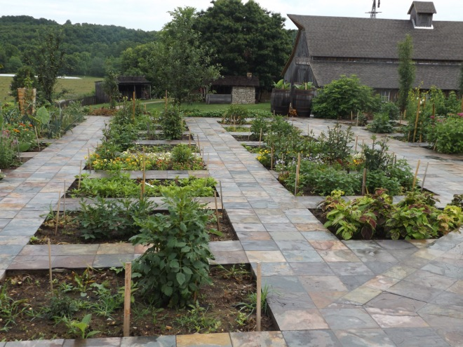 The raised bed gardens at Bakersville