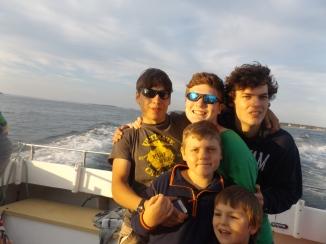 Ben, Nathanael, Ryon, Isaac, and Damien